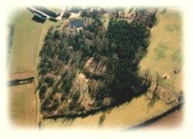 Elmdon motte from the air